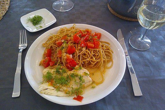 Pasta Pesce - Spaghetti mit scharfem Fisch