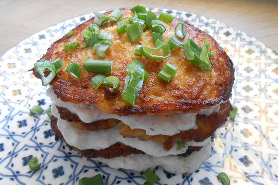 Pikanter Kartoffelpuffer-Kuchen à la Gaga