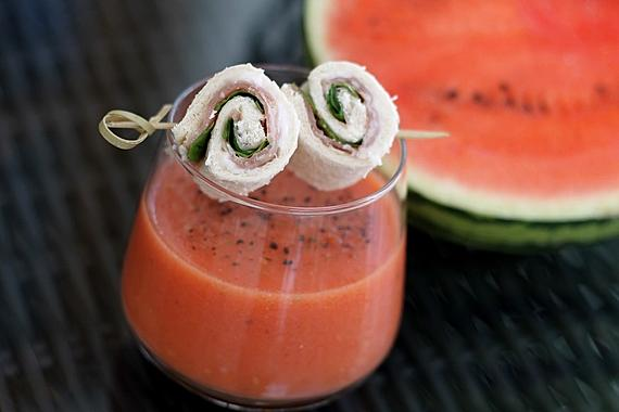 Kalte Tomaten-Melonen-Suppe