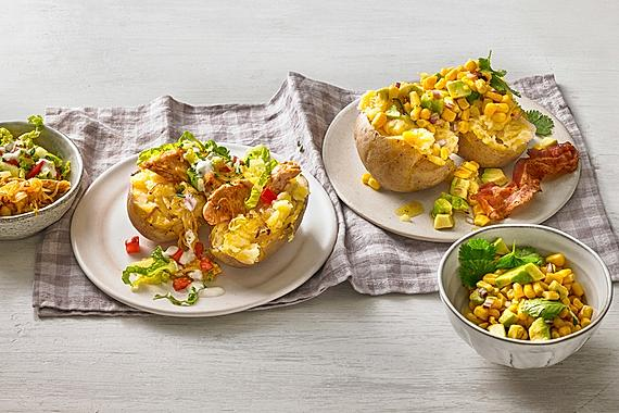 Avocado-Mais-Salat mit Knusperspeck