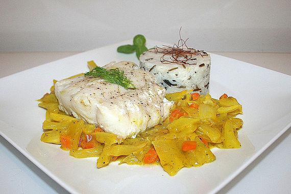 Fischfilets auf Fenchelgemüse à la Bouillabaisse