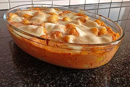 Rezeptbild zum Rezept Gnocchi aus dem Ofen in Paprika-Tomaten-Sauce