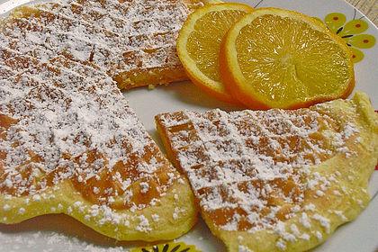 Rezeptbild zum Rezept Kürbis - Orangen - Waffeln