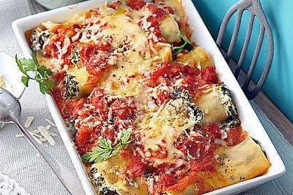 Rezeptbild zum Rezept Ischileins Cannelloni mit Spinat und Frischkäse