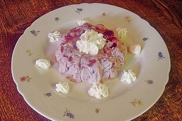 Preiselbeer - Creme mit Amaretti