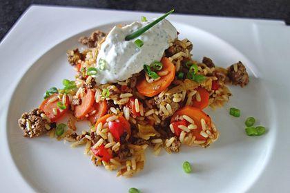 Rezeptbild zum Rezept 1a Reispfanne mit buntem Gemüse