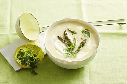 Rezeptbild zum Rezept Kartoffel-grüner Spargel-Suppe