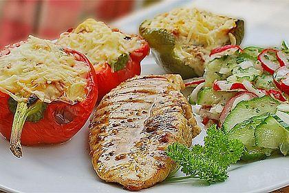 Rezeptbild zum Rezept Illes sommerlich gegrillte Paprika mit mediterraner Füllung