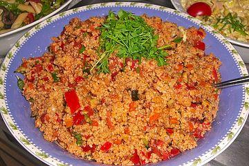 Couscous - Salat mit karamellisiertem Gemüse