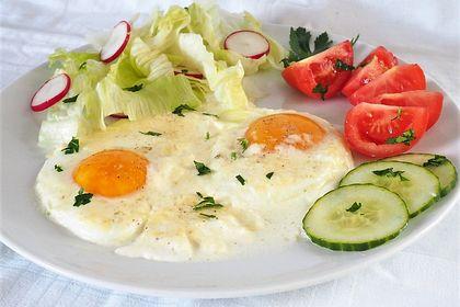 Rezeptbild zum Rezept Eier in Sahne - gebacken