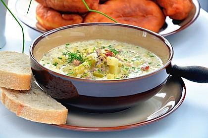 Rezeptbild zum Rezept Hackfleisch-Lauch-Suppe