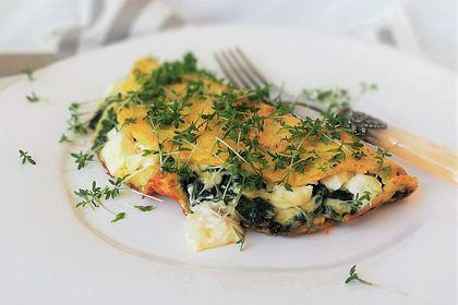 Rezeptbild zum Rezept Spinat-Käse-Omelett