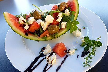 Rezeptbild zum Rezept Melonen - Schafskäse  Salatschiffchen