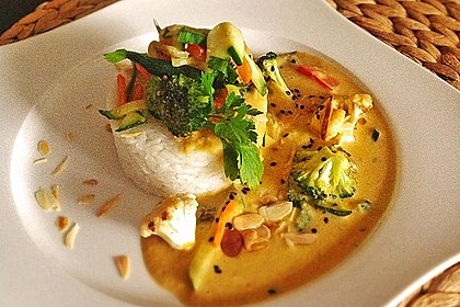 Rezeptbild zum Rezept Thai Curry Erdnuss-Kokos-Hühnchen