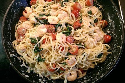 Rezeptbild zum Rezept Pasta Scampi e Spinaci alla  Vapiano