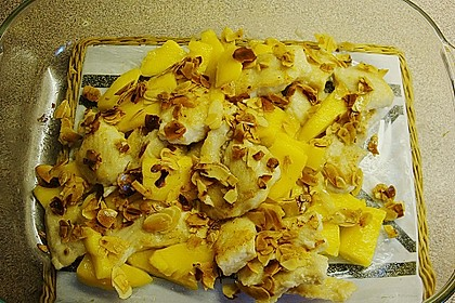 Rezeptbild zum Rezept Fischfilet mit Mango