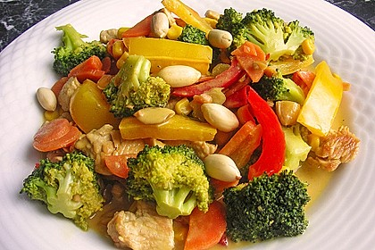 Rezeptbild zum Rezept Hähnchen-Gemüse-Kokos-Pfanne