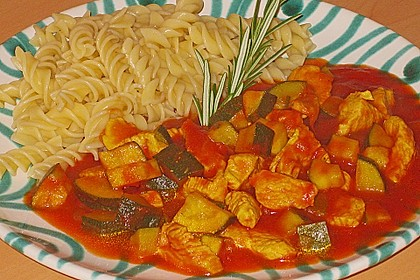 Rezeptbild zum Rezept Zucchini-Puten Pfanne