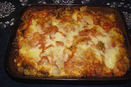Rezeptbild zum Rezept Schneller Fenchelauflauf mit Tomaten und altem Brot