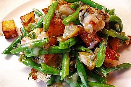 Rezeptbild zum Rezept Würzige Kartoffel-grüne Bohnen Pfanne