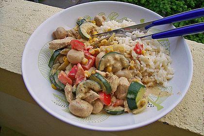Rezeptbild zum Rezept Hähnchen-Gemüse-Schlemmerpfanne
