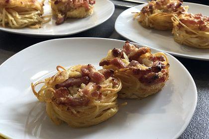 Rezeptbild zum Rezept Spaghetti Carbonara-Muffins