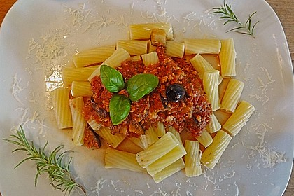 Rezeptbild zum Rezept Pasta Bolognese, vegetarisch bzw. vegan