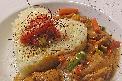 Rezeptbild zum Rezept Hähnchen in Honig-Sesam Sauce und Gemüse