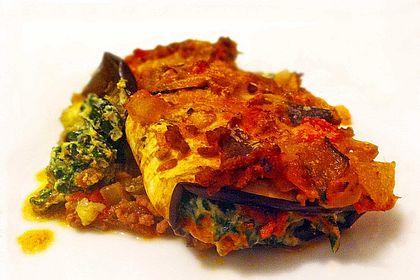 Rezeptbild zum Rezept Auberginen-Cannelloni mit Hackfleischsauce