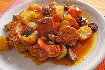 Rezeptbild zum Rezept Puten-Räuberfleisch vom Blech
