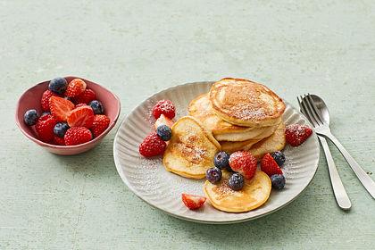 Rezeptbild zum Rezept Kalorienarme Bananen Pfannkuchen