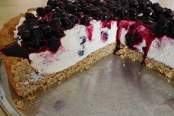 Heidelbeer-Philadelphia-Torte
