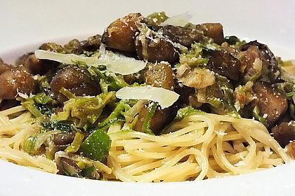 Rezeptbild zum Rezept Spaghetti mit Maronen und Lauch