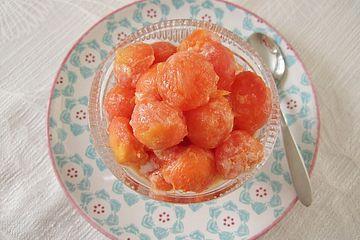 Gebackene Papaya