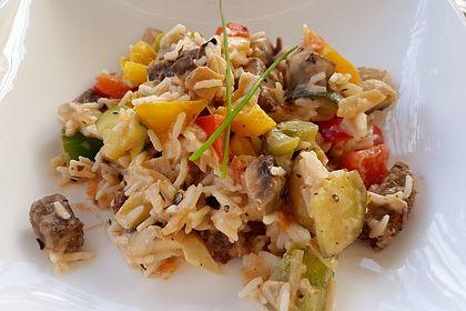 Rezeptbild zum Rezept Bunte mediterrane Gemüsepfanne mit Reis