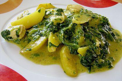 Rezeptbild zum Rezept Kartoffel-Spinat-Curry
