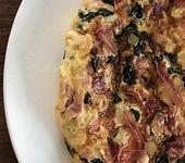 Omelette mit Tomaten, Spinat und Spargel