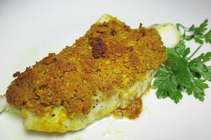 Rezeptbild zum Rezept Kabeljaufilet mit Curryhaube