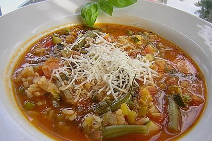 Rezeptbild zum Rezept Gemüsesuppe italienische Art
