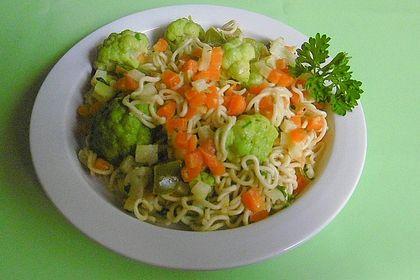 Rezeptbild zum Rezept Sesam-Butter-Gemüse mit Nudeln