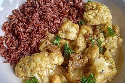Rezeptbild zum Rezept Low Carb Blumenkohl-Erdnuss-Curry