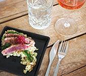 Risotto mit Thunfisch und Algensalat