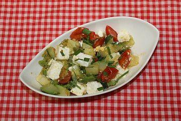 Gemüsepfanne mit griechischem Feta