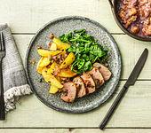 Bacon-Salbei-Schweinefilets