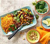 Mexikanisches Spicy-Rindfleisch mit Erdnüssen