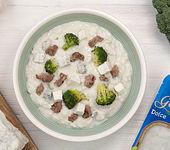 Risotto mit Gorgonzola, Wurst und Brokkoli