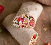 Frühstücks-Wraps mit Erdbeeren