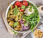 Italienische Salat-Pasta-Bowl