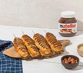Stockbrot mit Haselnüssen und nutella®