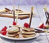Schnelle Mini-Pancakes am Stiel